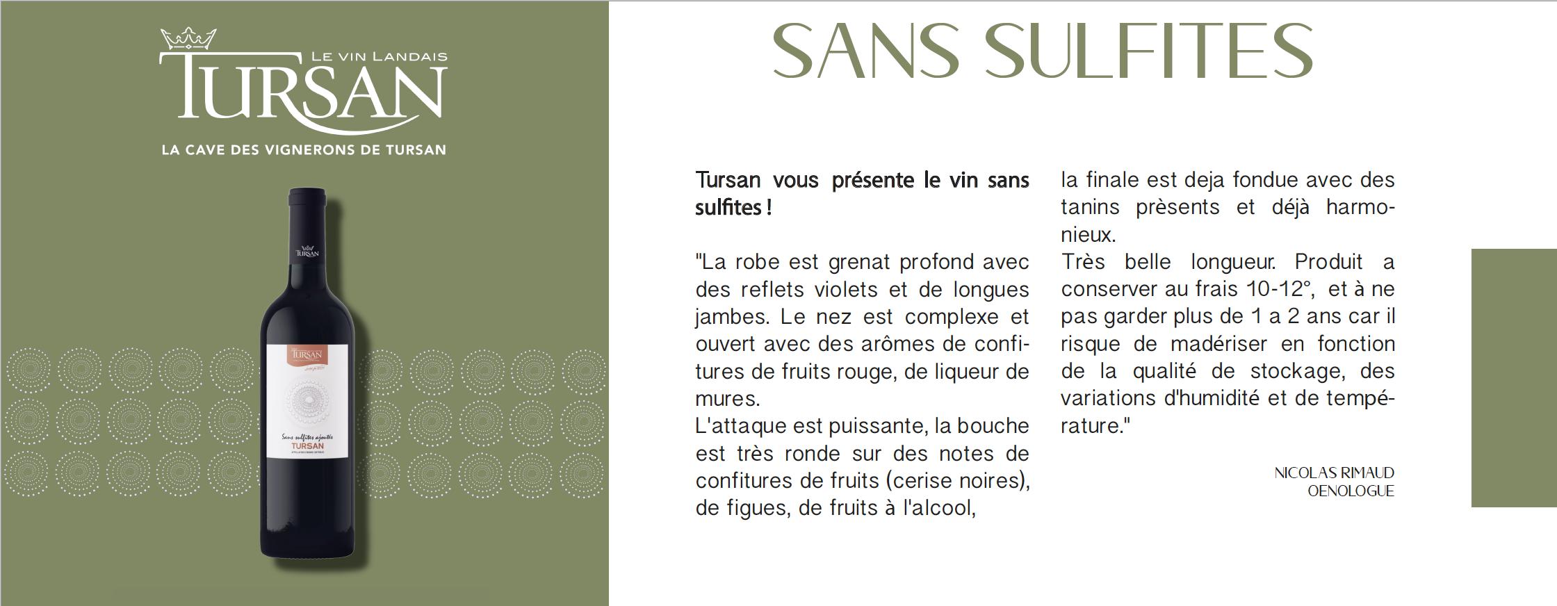 vin rouge tursan sans sulfites