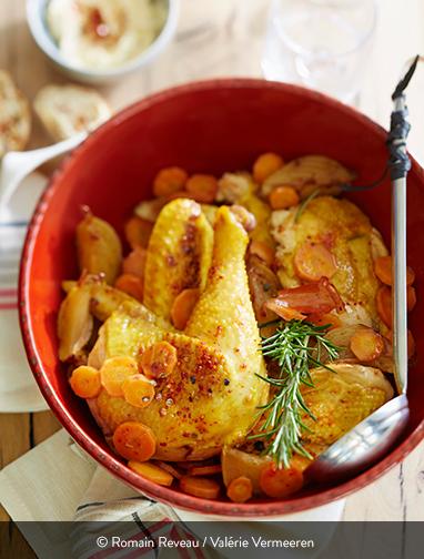 Tursan Poulet oignons carottes